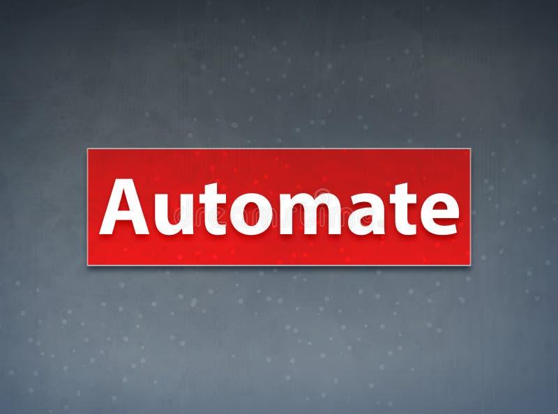 Automatisera röd banerabstrakt begreppbakgrund stock illustrationer