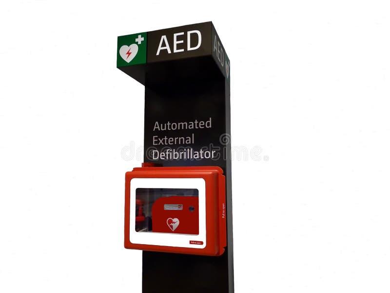 Automatiserad Defibrillatormaskin royaltyfria foton