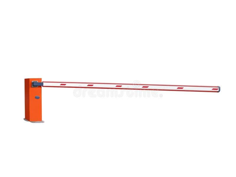 automatiserad mer barier crossing isolerad orange väg stock illustrationer