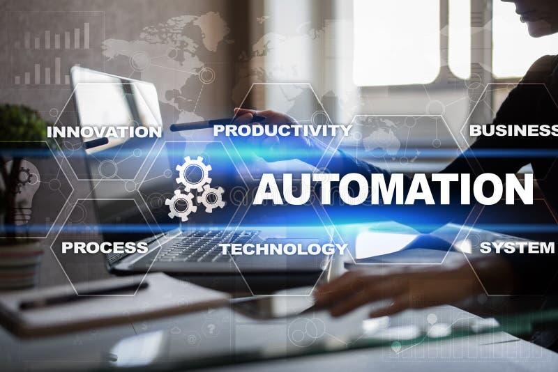Automatiseringsconcept als innovatie, die productiviteit in technologieprocessen verbeteren royalty-vrije stock foto