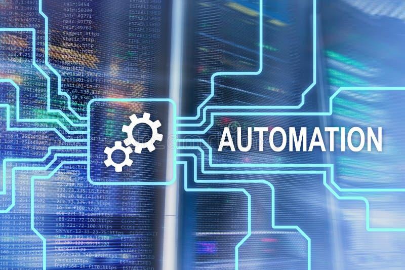 Automatisierung der Geschäftsprozess- und Innovationstechnologie in der Herstellung Internet und Technologiekonzept auf Serverrau lizenzfreie stockfotografie