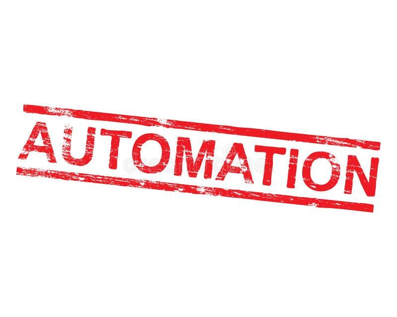 Automatisierungs-Stempel lizenzfreie abbildung