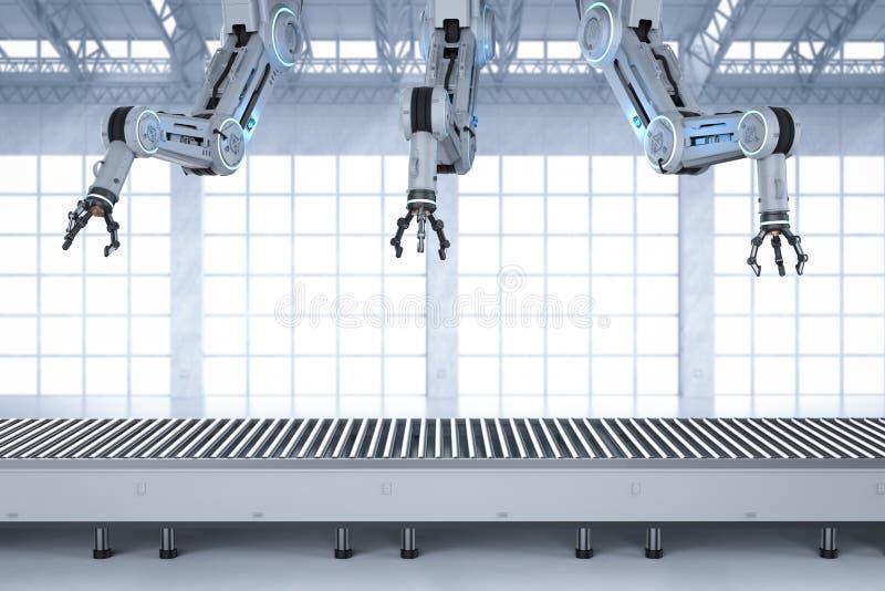 Automatisierungsfabrikkonzept vektor abbildung