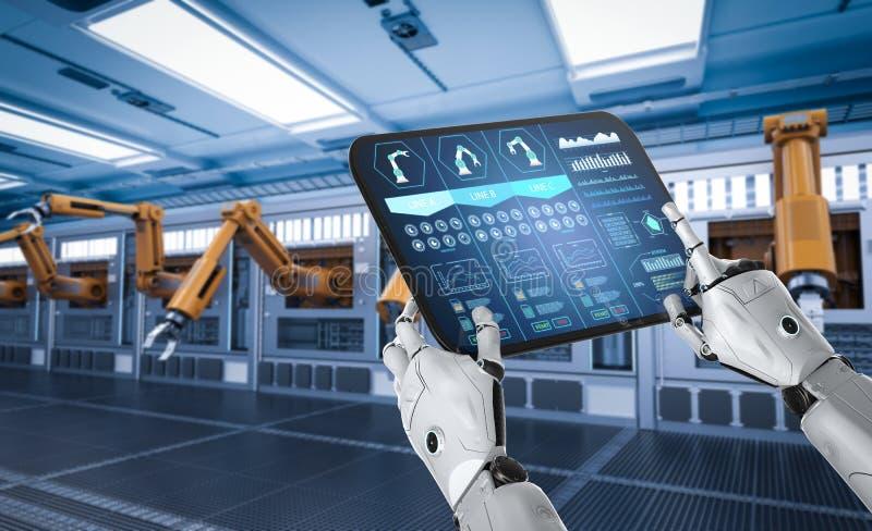 Automatisierungsfabrikkonzept lizenzfreie abbildung