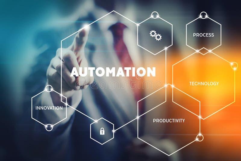 Automatisierungskonzeptbild lizenzfreie stockfotos