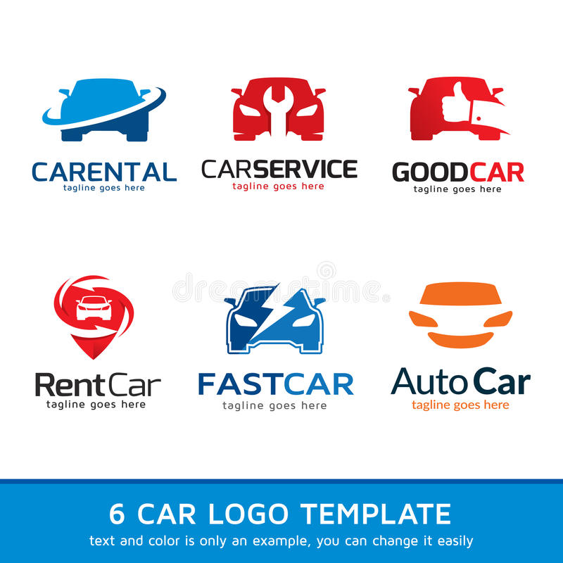 Automatisk bil Logo Template Design stock illustrationer