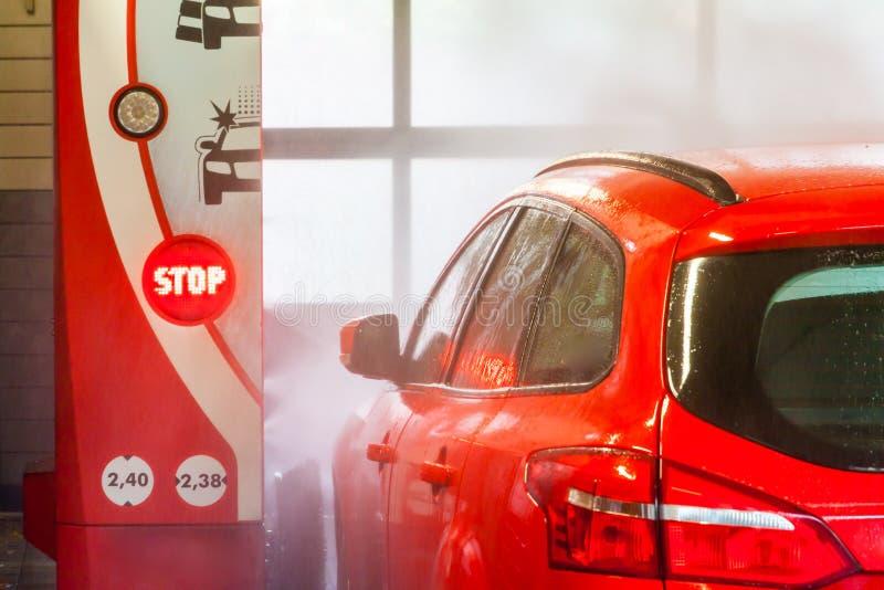 automatisk bilwash royaltyfri bild