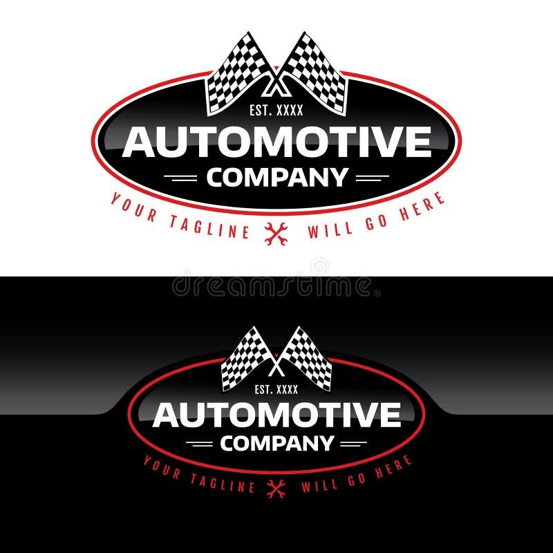 Automatisk Företag logo - vektorillustration royaltyfria foton