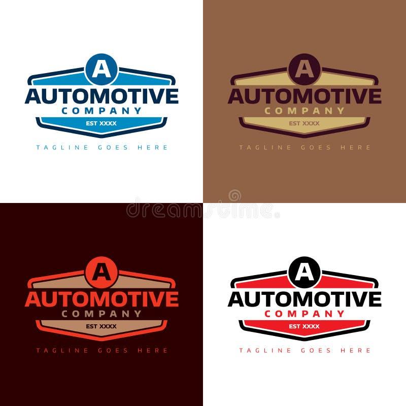 Automatisk Företag logo - vektorillustration arkivfoton