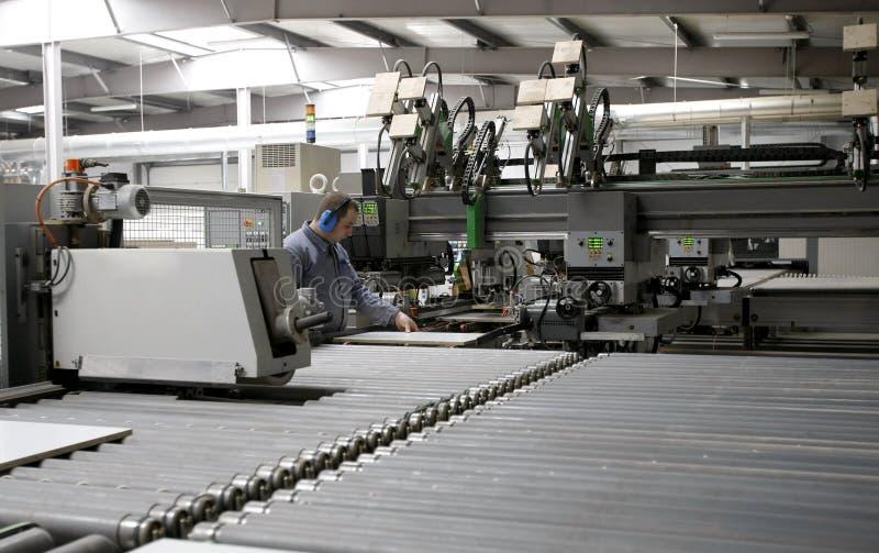 automatisk fabriksarbetsledare arkivfoton