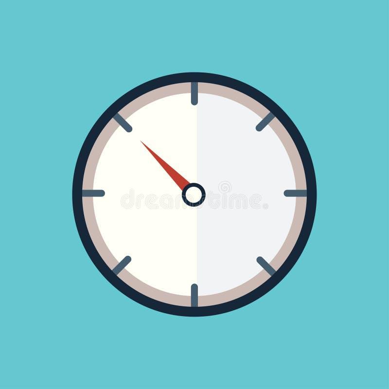 Automatisk frånslagningstid för klockasymbolsabstrakt begrepp royaltyfri illustrationer