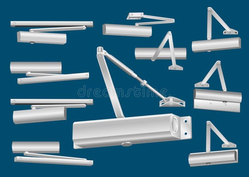 automatisk tätare dörrset vektor illustrationer