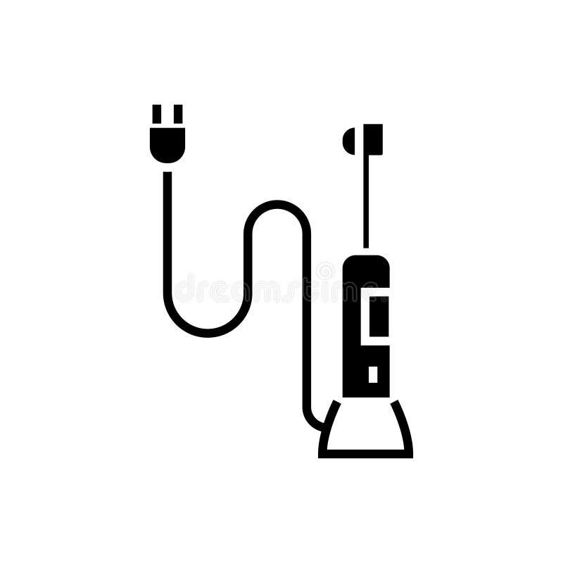 Automatisk tandborstesymbol, vektorillustration, svart tecken på isolerad bakgrund royaltyfri illustrationer
