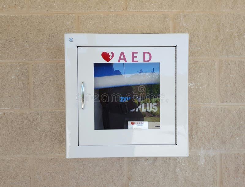 Automatisk yttre Defibrillator royaltyfria bilder