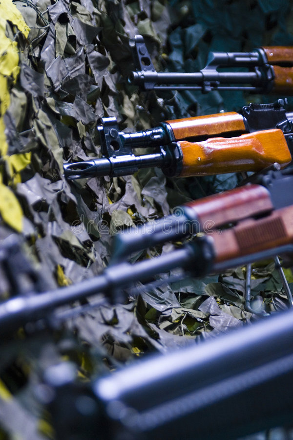 automatiska gevär för anfall arkivfoton