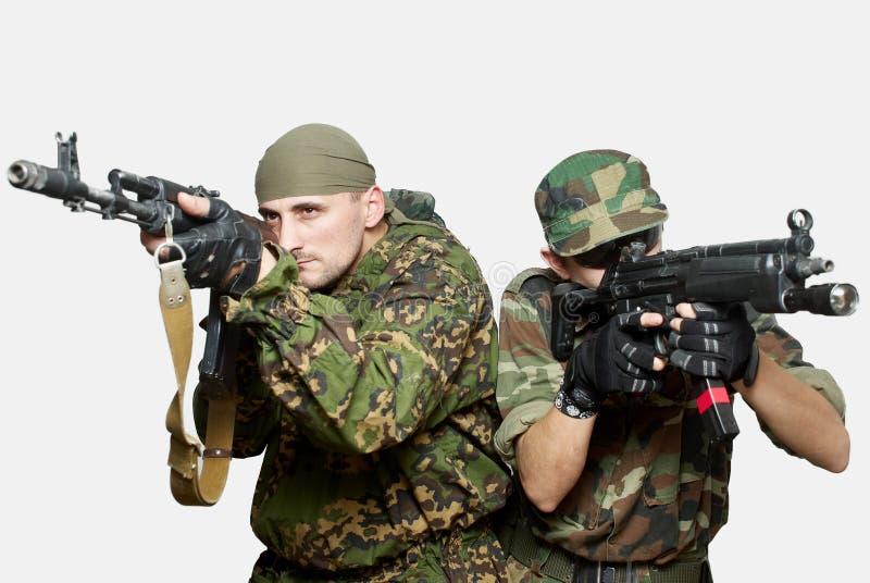 automatiska gevärsoldater för anfall royaltyfri bild