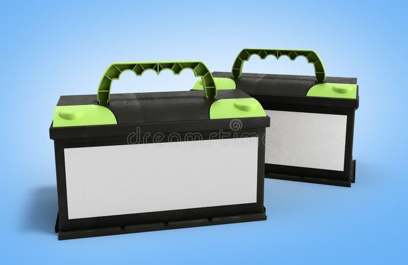 Automatiskn för ackumulatorer för batteribilen särar makt för elektrisk tillförsel royaltyfri illustrationer