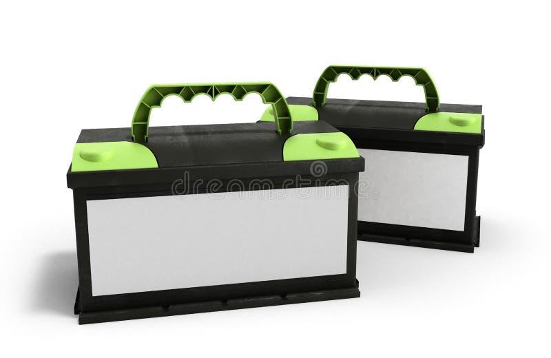 Automatiskn för ackumulatorer för batteribilen särar makt för elektrisk tillförsel vektor illustrationer