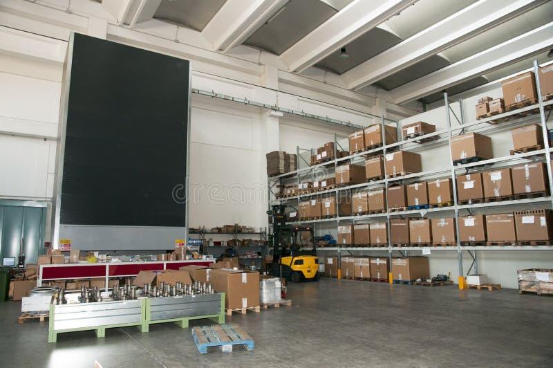 automatiskt fabrikslager royaltyfri fotografi