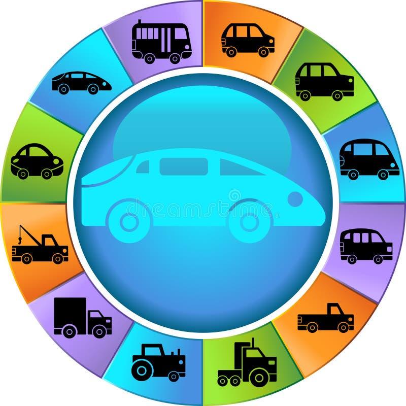 automatiskt hjul vektor illustrationer