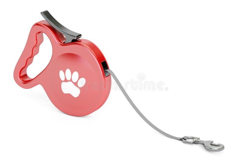 Automatiskt infällbart dragkraftrep Gå ledningskoppeln för hund stock illustrationer