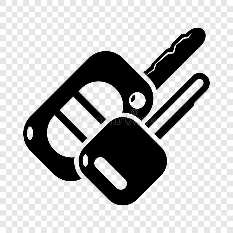 Automatisktangentsymbol, enkel svart stil royaltyfri illustrationer