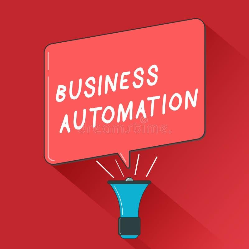 Automatização de negócio da exibição da nota da escrita Foto do negócio que apresenta para a transformação de Digitas aerodinamiz ilustração royalty free