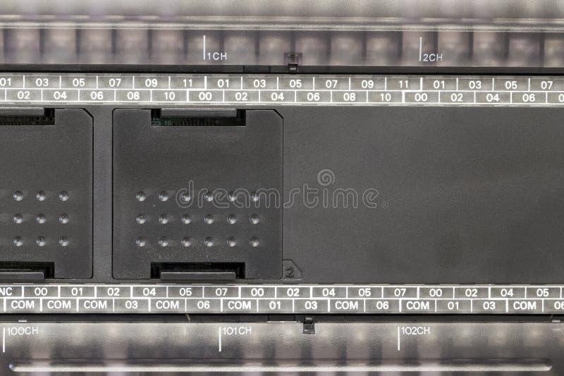 Automatização do PLC em uma indústria imagens de stock
