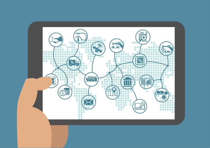 Automatización de proceso de negocio en un mundo digital libre illustration