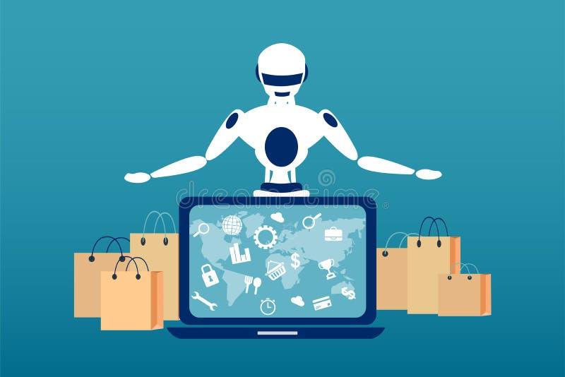 Automatización del concepto del proceso de envío libre illustration
