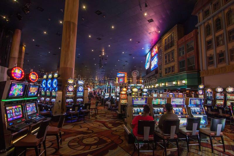 Automaty do gier w Nowym nowym Jork hotelu zdjęcia stock