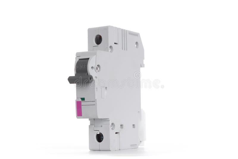 Automatyczna elektryczności zmiana odizolowywająca na białym tle zdjęcia stock