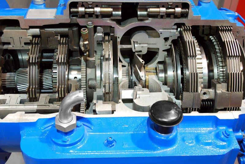 automatyczna gearshift przekazu ciężarówka fotografia stock