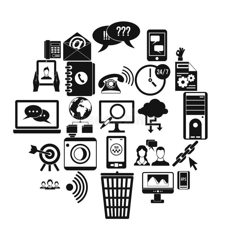 Automatyczne redial ikony ustawiać, prosty styl ilustracji