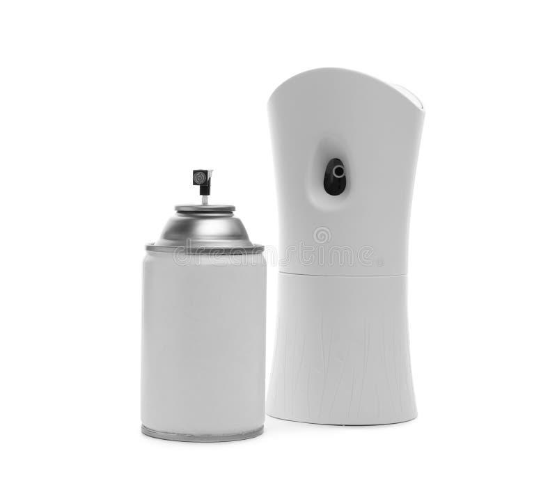Automatyczny lotniczy freshener i aerosolowa butelka zdjęcie royalty free