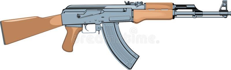 automatyczny pistolet royalty ilustracja