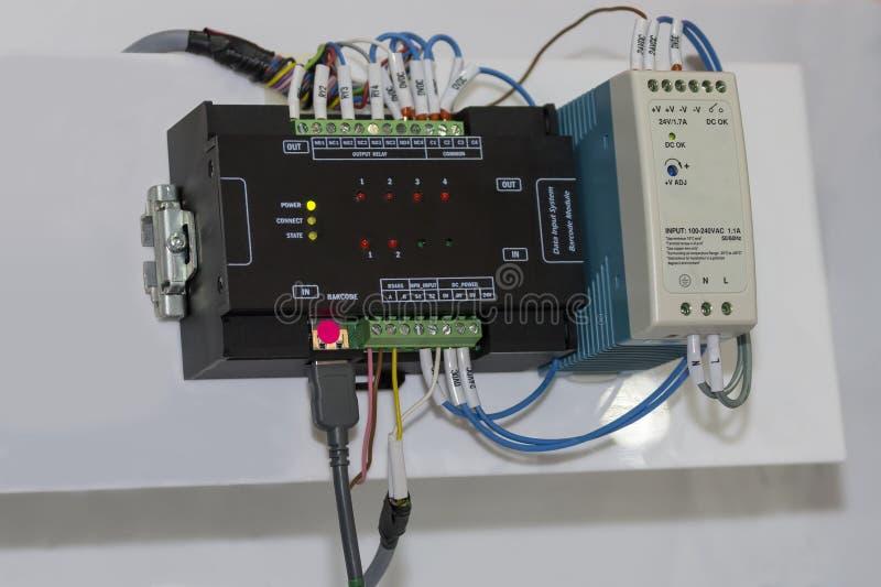 Automatyczny Programmable logika kontrolera PLC dużej precyzji wyposażenie dla przemysłowego zdjęcia royalty free