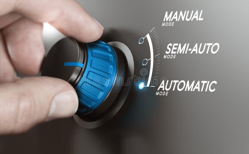 Automatyczny testowanie lub proces produkcyjny automatyzacja royalty ilustracja