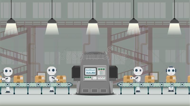 Automatyzaci fabryki poj?cie royalty ilustracja