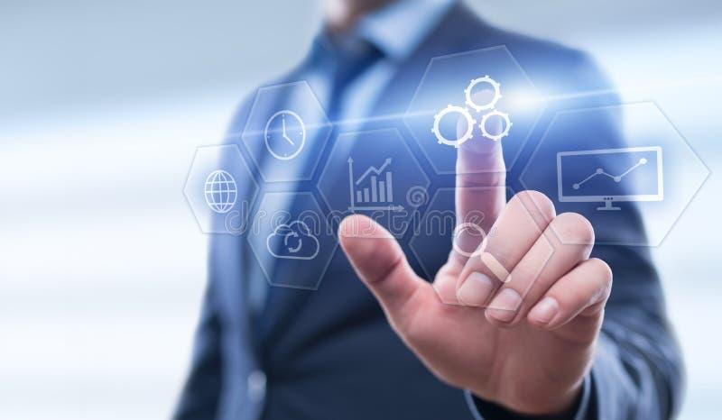 Automatyzaci oprogramowania technologii procesu systemu biznesu pojęcie fotografia royalty free
