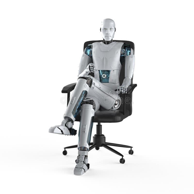 Automatyzacja pracownika poj?cie ilustracji