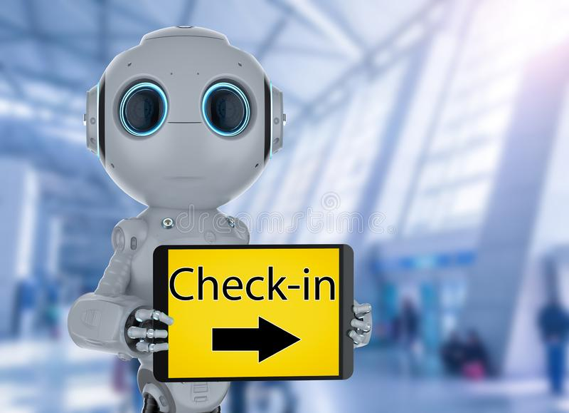 Automatyzacja sprawdza wewnątrz robot zdjęcie royalty free