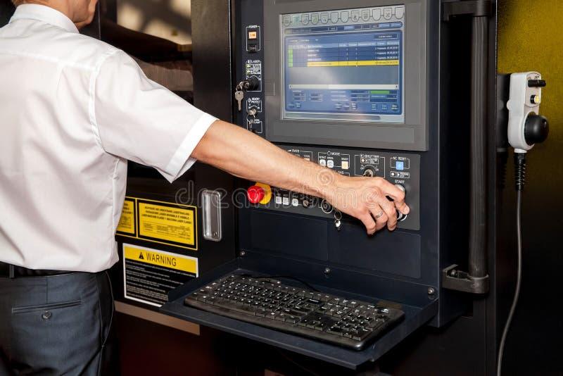 Automatyzujący miejsce pracy, komputerowy panel przemysłowa maszyneria fotografia royalty free