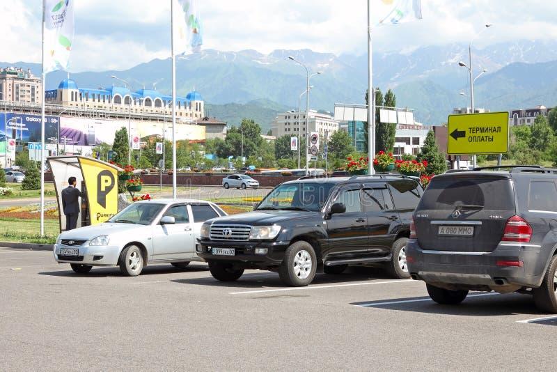 Automatyzujący opłacony parking fotografia royalty free
