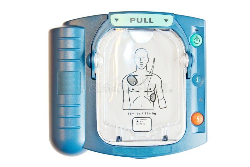 Automatyzujący Zewnętrznie AED Defibrillator lub zdjęcie royalty free