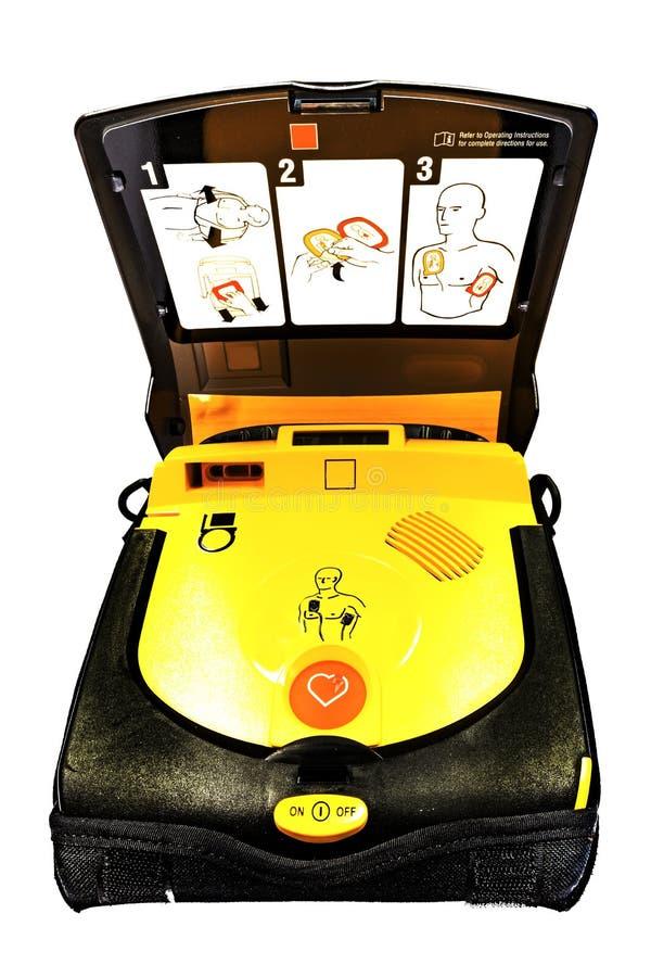 Automatyzujący zewnętrznie defibrillator zdjęcia royalty free