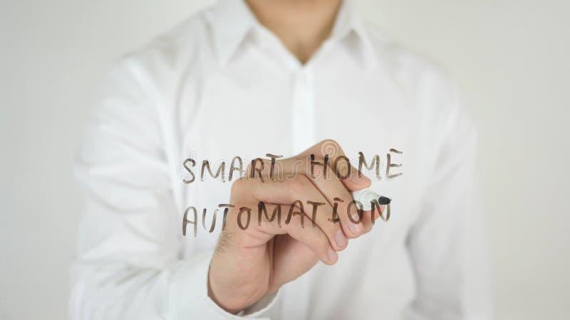 Automazione della casa astuta, scritta su vetro fotografie stock
