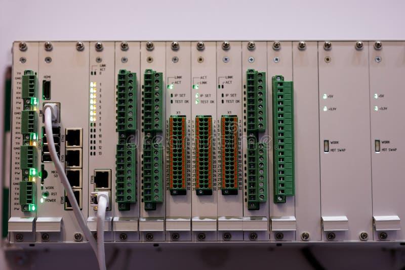 Automazione industriale e sistema di controllo modulari fotografia stock