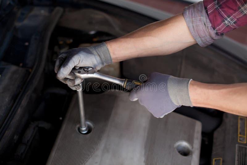 Automechanikernahaufnahme stockbilder