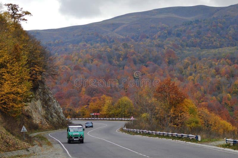 Automn in bergen stock afbeeldingen